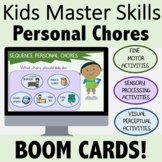 Occupational Therapy BOOM CARDS for Teletherapy: Personal Chores