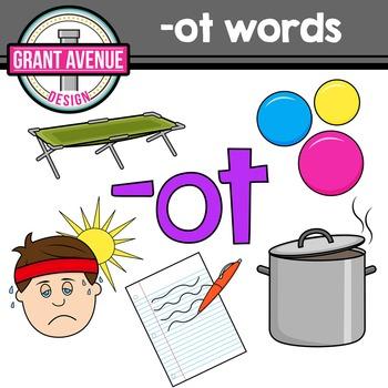 OT Word Family Clipart - CVC Clipart