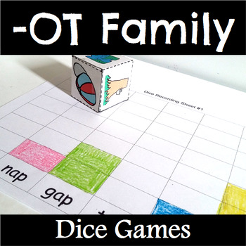 OT Word Family Dice Games for Centers or Small Groups