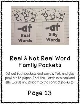 OT Word Family Interactive Notebook
