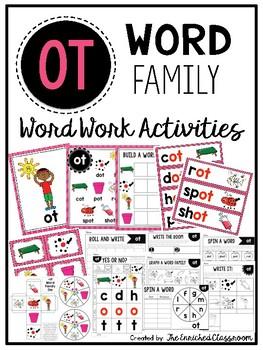 OT Word Family Word Work Activities