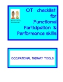 OT functional performance and participation skills