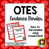 OTES Evidence Binder {Ohio Teacher Evaluation System}