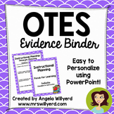 OTES Evidence Binder {Ohio Teacher Evaluation System} Lilac Background