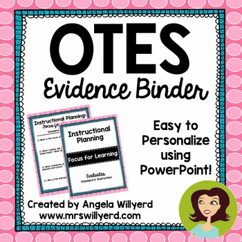 OTES Evidence Binder {Ohio Teacher Evaluation System} Pink and Teal