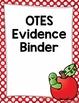 OTES Evidence Binder {Ohio Teacher Evaluation System} Red