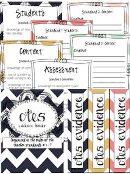 OTES (Ohio's Teacher Evaluation System) Organizational Editable Planning Binder