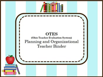 OTES Organizational and Planning Binder