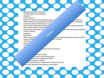 OTES: Teaching Evidence by Standard: Ohio Based Teacher Binder