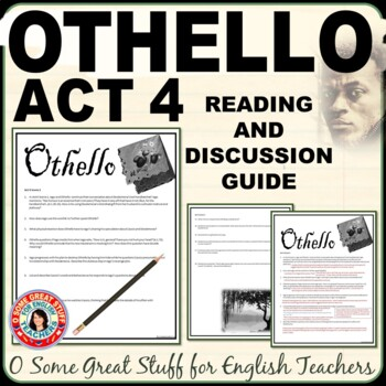 OTHELLO Act 4 Questions for Comprehension and Analysis
