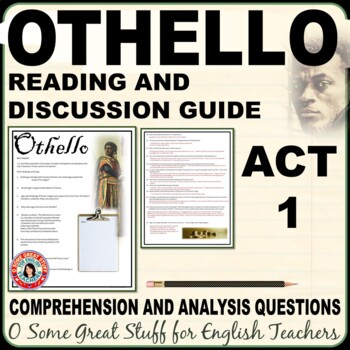 OTHELLO Questions for Comprehension and Analysis of Act 1 DIGITAL-ENABLED