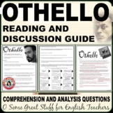 OTHELLO Comprehension and Analysis Questions for the Entire Play Bundled