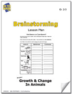 Brainstorming Growth and Change in Animals Lesson Plan