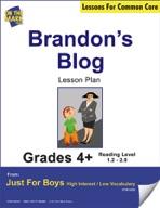 Brandon's Blog (Fiction - Recount Writing) Grade Level 1.9 Aligned to Common Core e-lesson plan