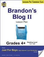 Brandon's Blog - Part II (Fiction - Recount Writing) Grade Level 1.7 Aligned to Common Core e-lesson plan