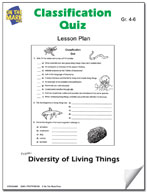 Classification Quiz Lesson Plan