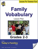 Family Vocabulary Gr. 2-3 Aligned to Common Core e-lesson plan