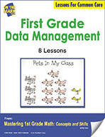 First Grade Data Management Lessons for Common Core (eLesson eBook)