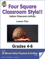 Four Square Classroom Style!! Lesson Plan (eLesson eBook)