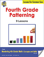 Fourth Grade Patterning Lesson for Common Core (eLesson eBook)