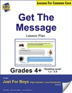 Get the Message (Fiction - Instant Message Style) Grade Level 1.5 Aligned to Common Core e-lesson plan