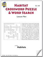 Habitats Crossword Puzzle & Word Search Lesson Plan