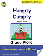 Humpty Dumpty Literacy Building Nursery Rhyme Aligned to Common Core Gr. PK-K  (e-lesson plan)
