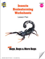 Insects Brainstorming Worksheets Lesson Plan