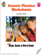 Insects Phonics Worksheets Lesson Plan