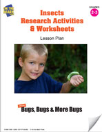 Insects Research Activities and Worksheets Lesson Plan