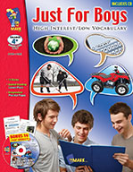Just for Boys - High Interest/Low Vocabulary Aligned to Common Core (eBook)