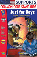 Just for Boys Reading Comprehension Gr. 3-6
