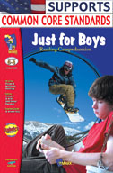 Just for Boys Reading Comprehension Gr. 6-8 (Enhanced eBook)