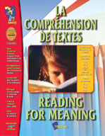 La Comprehension de Textes/Reading for Meaning (French/English)