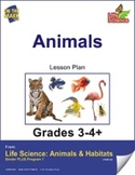 Life Science Animals & Habitats - Animals e-lesson plan