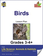 Life Science Animals & Habitats - Birds e-lesson plan & Reading Folder