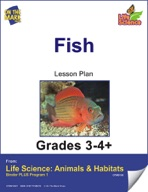 Life Science Animals & Habitats - Fish e-lesson plan & Reading Folder