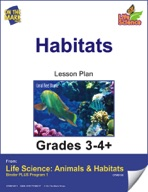 Life Science Animals & Habitats - Habitats e-lesson plan