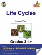 Life Science Animals & Habitats - Life Cycles e-lesson plan