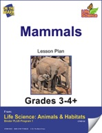 Life Science Animals & Habitats - Mammals e-lesson plan & Reading Folder