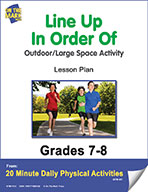 Line Up In Order Of Lesson Plan (eLesson eBook)