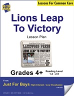 Lions Leap to Victory (Fiction - Newspaper Report) Grade Level 2.7 Aligned to Common Core e-lesson plan