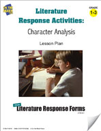 Literature Response Activities: Character Analysis Grades 1-3