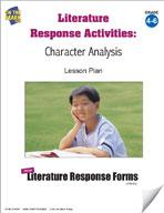 Literature Response Activities: Character Analysis Grades 4-6