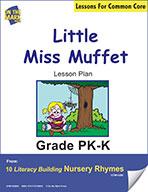 Little Miss Muffet Literacy Building Nursery Rhyme Aligned