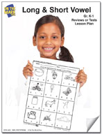 Long and Short Vowel Reviews or Tests K-1