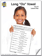"""Long """"o"""" Vowel Lesson Plan K-1"""