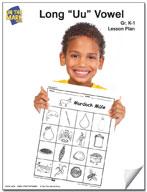 """Long """"u"""" Vowel Lesson Plan K-1"""