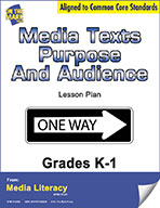 Media Texts Purpose and Audience Lesson Plan (eBook)