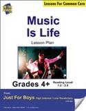 Music is Life (Non-Fiction - Report) Grade Level 2.3 Aligned to Common Core e-lesson plan
